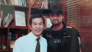 Dr Jung with famous baseball player