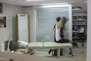 Staff attending a patient
