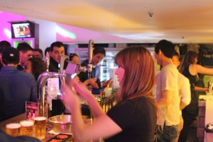 Busy behind the bar