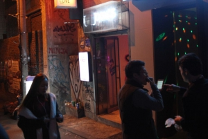 Joons Bar has a humble entrance right behind the Hongdae Noriteo Park!