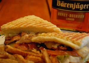 Honey bourbon chicken sandwich