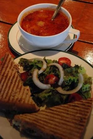 Grilled veggie panini
