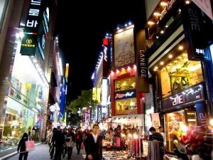 Myeongdong street scene