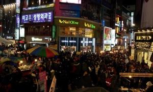 Myeongdong after dark