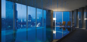 Infinity Swimming Pool by Night