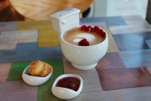 Scones and Jam in self made ceramics