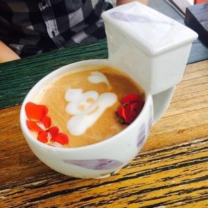Latte Poop Art!