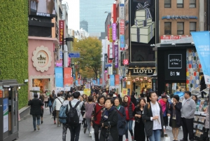 Myeongdong Shopping District, another stop on the palace and downtown course!