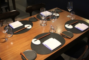 Table style dining and private rooms also available