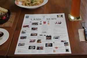 Creative. Dinner menu like a newspaper