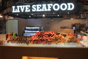 Live lobster market section