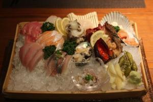 Example plating of sashimi!