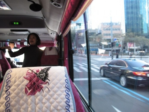 Private bus picking you up at your hotel. Tour guide welcoming you.