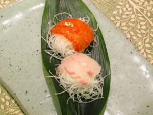 Sashimi 2 Ways, With Edible Gold