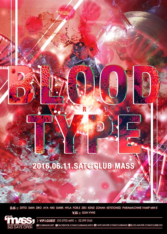 Blood Type Party at Club Mass
