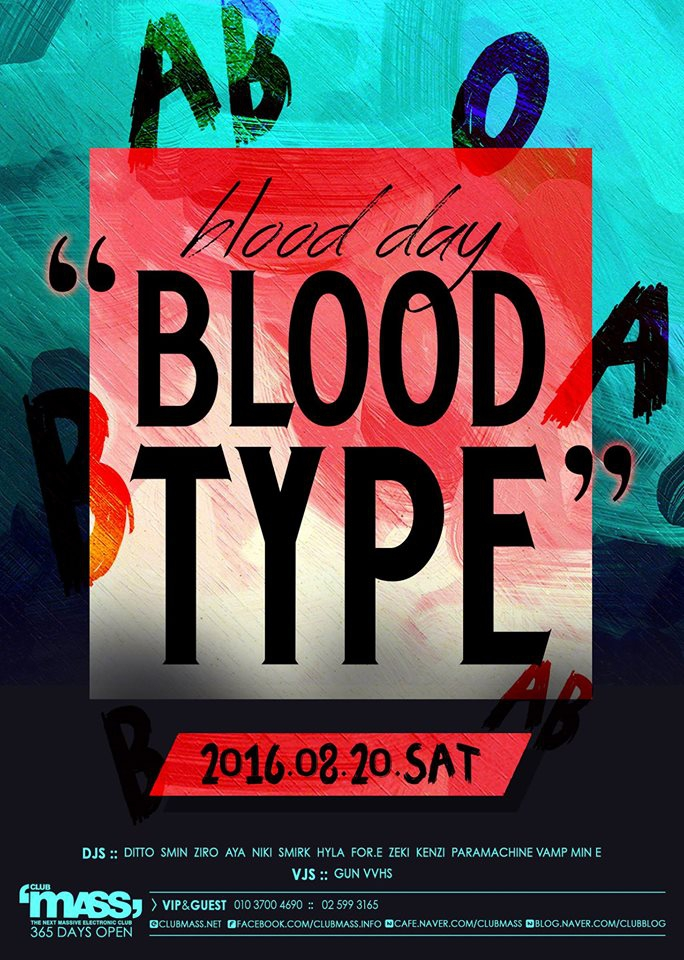 BLOOD TYPE PARTY at Mass!