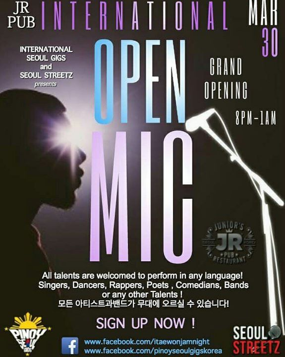 International Open Mic GRAND OPENING (Jr Pub)