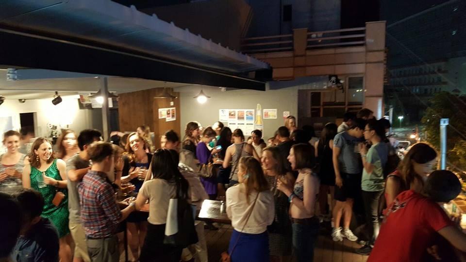All-you-can drink International Rooftop Party in Hongdae!