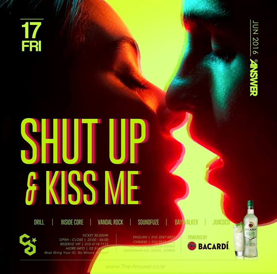 Shut Up and Kiss me at Club Answer
