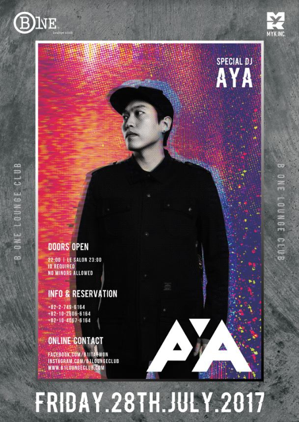 Special DJ AYA this Friday at B One Lounge Club