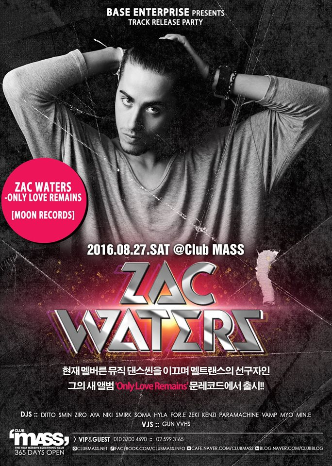 TRACK RELEASE PARTY GUEST DJ_ZAC WATER