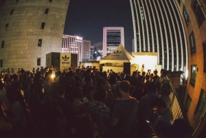 Adidas originals rooftop party downtown Seoul