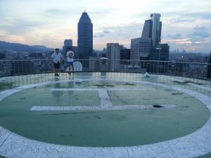 Helipad rooftop near Renaissance Hotel