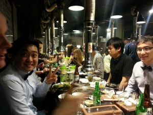 Korean BBQ in Sinchon