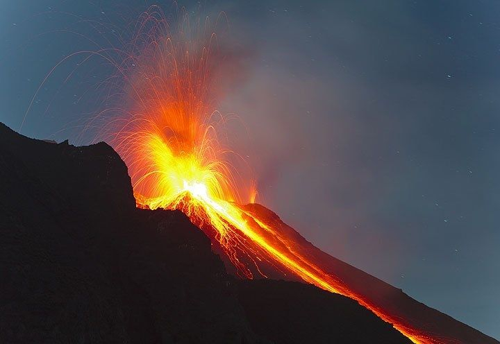 "The ""Fire Slide"" of Stromboli, Aeolian Islands,Sicily"