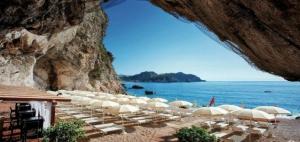 private beach of Hotel Capotaormina