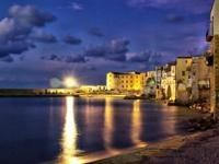 Bay of Cefalù by night