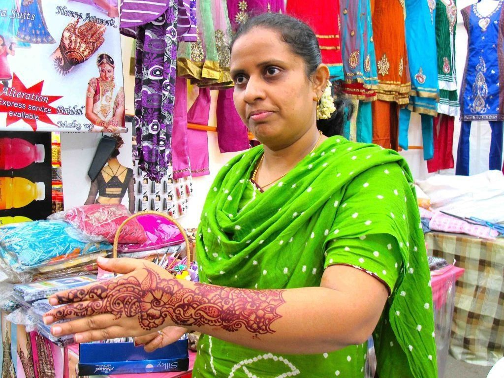 Indian lady with Henna art