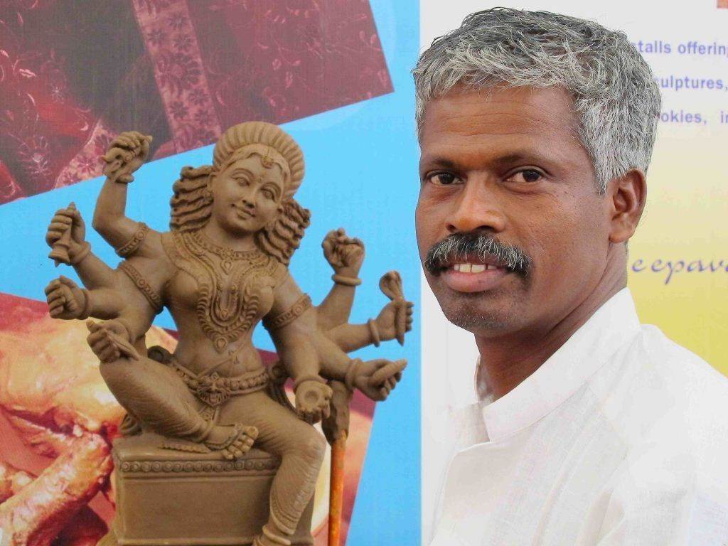 Indian clay artist