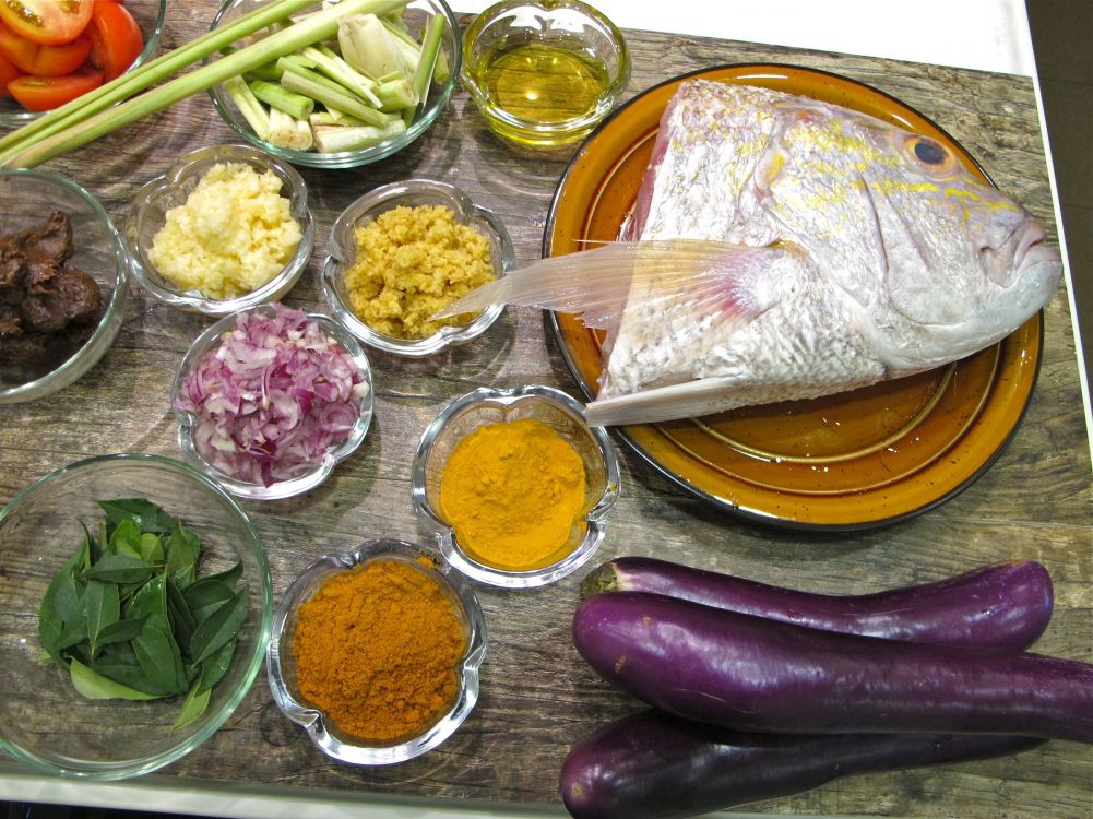 Fish Head Curry- Ingredients