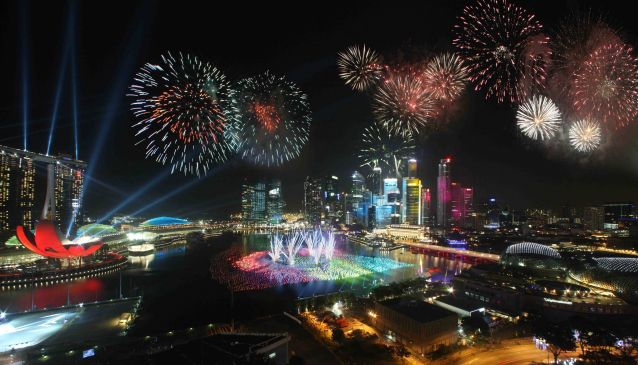 Marina Bay Fireworks. Photo Courtesy Esplanade- Theatres on the Bay