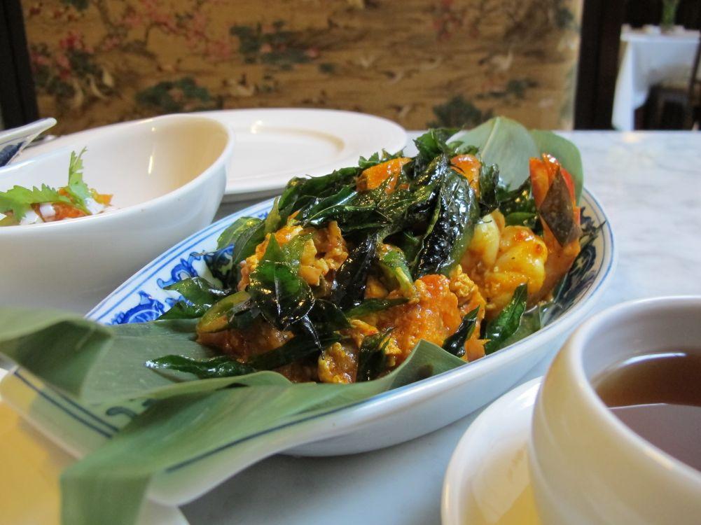 Peranakan food in one of the few Nonya restaurants in Singapore