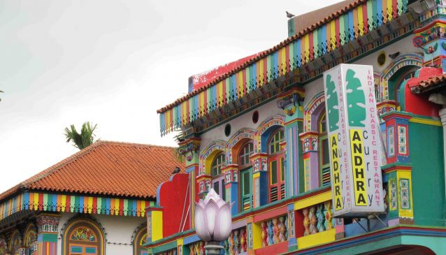 Little India, colorful shophouses
