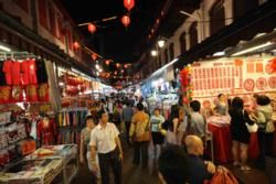 Busy Streets in Chinatown Singapore