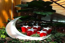 National Day Installation at Singapore Airport