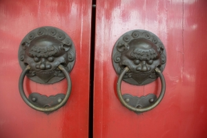 Chinese Door Handles Buddha Tooth Relic Temple