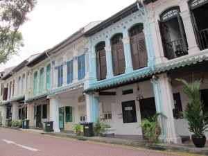 Colorful Shophouses near Orchard Road