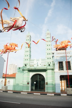 Galloping Horses over the Green Mosque- CNY2014