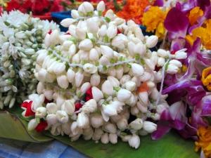 Offering Jasmine Flowers in Little India