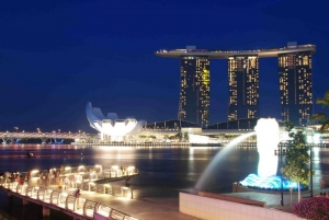 Science Art Museum, Marina Bay Sands and Merlion