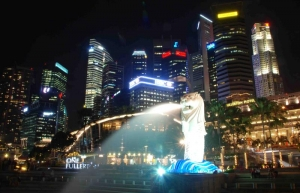 The Merlion and the Central Business District