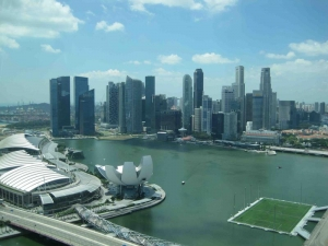 View of Marina Bay from Top