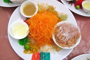 Yu Sheng Eaten during Chinese New Year