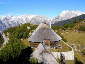 Velika planina huts