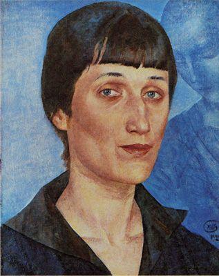 1922 Akhmatova portrait by Petrov-Vodkin