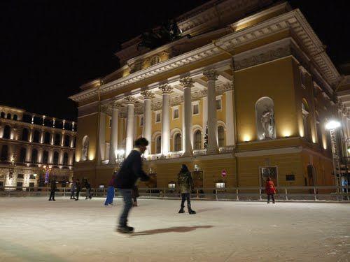 Ostronsky Square skating rink